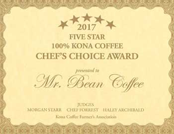 KCFA Member Mr. Bean Kona Coffee